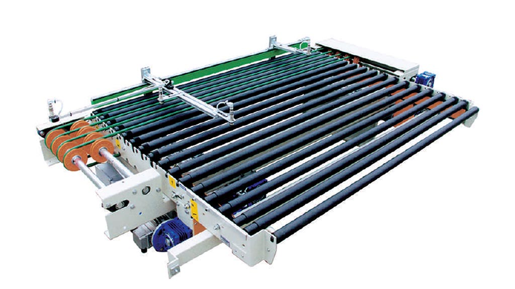 RSE/R – Vertical dryer unloading roller conveyor