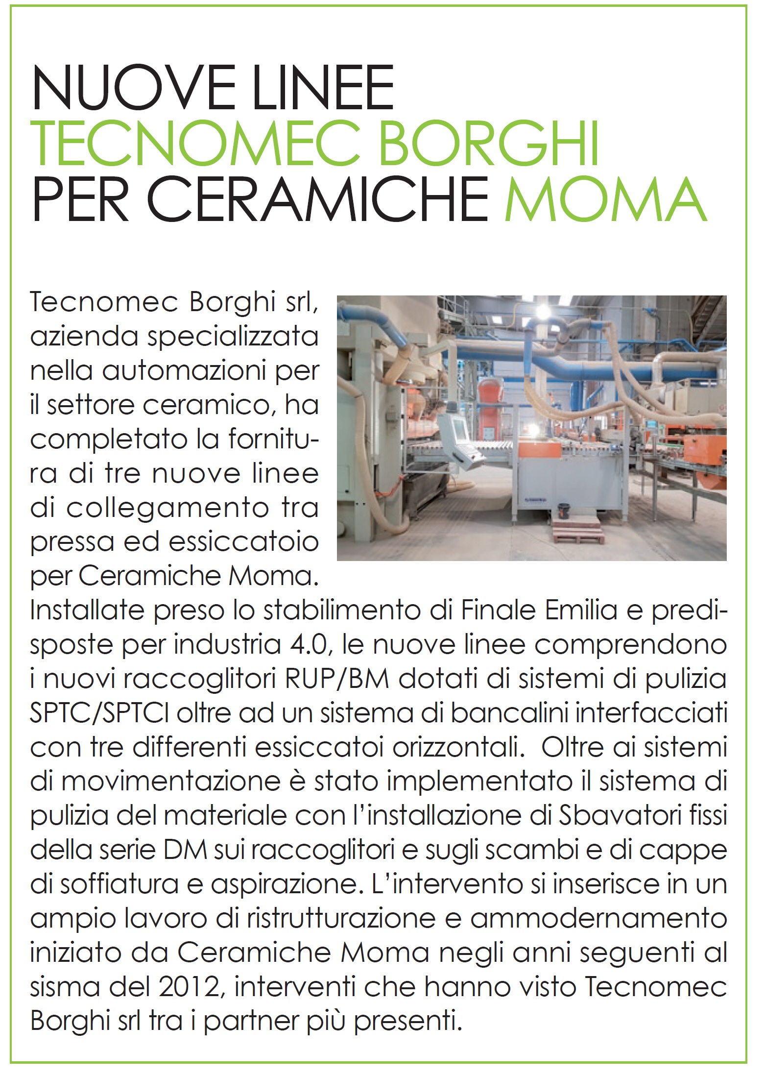 News from Ceramicanda!