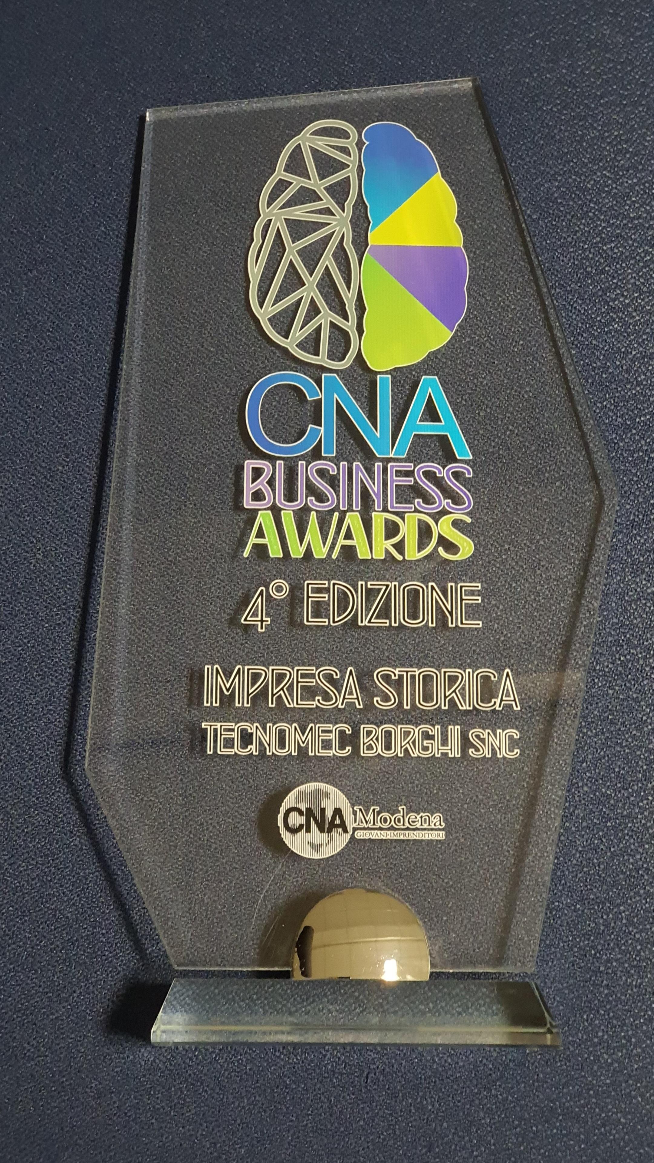 Premiazione Impresa Storica – Business Award 2020 CNA Modena