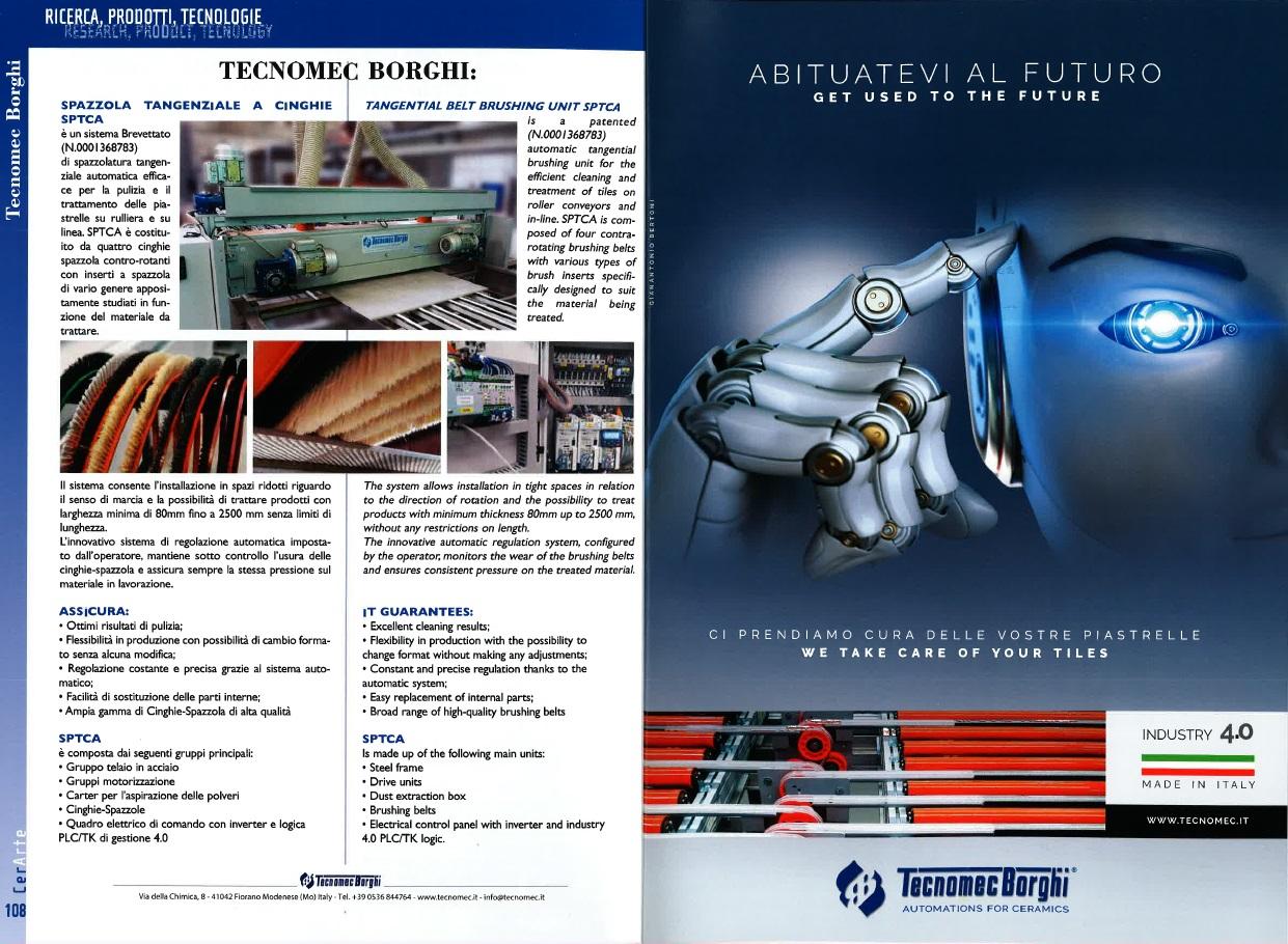 Ricerca, prodotti e tecnologie TECNOMEC BORGHI Spazzola Automatica SPTCA (Cer Arte)